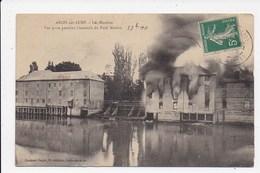 CPA 10 ARCIS SUR AUBE Les Moulins Vue Prise Pendant L'incendie Du Petit Moulin - Arcis Sur Aube