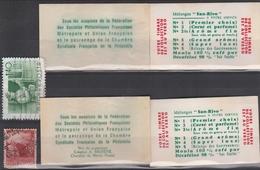 4 POCHETTES De CAFÉ SAN RIVO Avec Son TMBRE (dans Les Années 50, Chaque Paquet De Café Contenait L Pochette Avec Timbre) - France