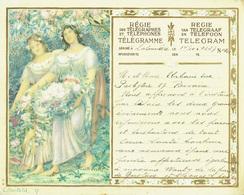 Télégramme En Couleur De 1937 De La Régie Des Télégraphes  & Téléphones De Belgique - Félicitation Pour Un Mariage (T1) - Mariage