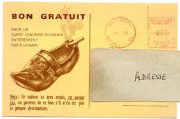MAINE Et LOIRE - Dépt N° 49 = VIHIERS 1969 = CARTE PUBLICITAIRE = BON Pour Un SABOT CENDRIER - Publicités