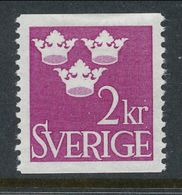 Sweden 1952 Facit # 308, Three Crowns, 2 Kr, Red-violet, MH (*) - Nuovi