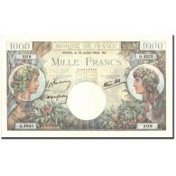 France, 1000 Francs, 1 000 F 1940-1944 ''Commerce Et Industrie'', 1944 - 1871-1952 Antiguos Francos Circulantes En El XX Siglo