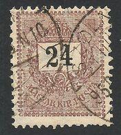 Hungary, 24 K, 1888, Sc # 31, Used, Szolnok - Gebraucht