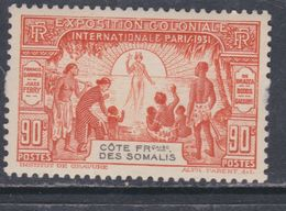 Cote Des Somalis N°139 XX  Exposition Coloniale De Paris : 90 C. Orange Sans Charnière, TB - Französich-Somaliküste (1894-1967)