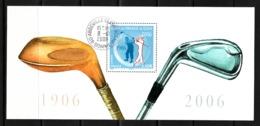 France 2006 : Bloc Souvenir N° 13 Avec Timbre Yvert Et Tellier N° 3935a Et Oblitération Ronde + Carte.... - Used