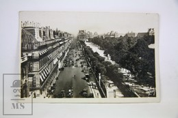 Old Real Photo Postcard France - Paris - Rue De Rivoli Et Jardin Des Tuileries - Otros