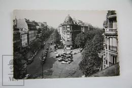 Old Real Photo Postcard France - Paris - Le Carrefour Richelieu - Drout - Old Cars - Otros