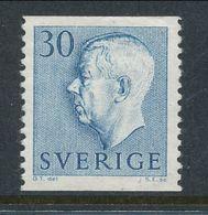 Sweden 1957 Facit # 416 A. Gustaf VI Adolf, Type II, 30 öre Blue, MH(*) - Schweden