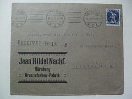 GERMANY - 1921 Cover - Nurnberg To London England - Jean Hildel Nachf. Bronzefarben-Fabrik - Germany
