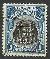 Mozambique Company, 1 E. 1925, Sc # 143, Mi # 165, Used - Mozambique