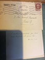 Carte De Visite +enveloppe  Albert DELFAU 1949 - Autographes
