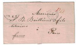 """1863 - CAD MARQUE D'ENTRÉE """" AUTRICHE STRASBOURG ASC """" Sur LETTRE LSC De VIENNE WIEN Pour PARIS (TIMBRE MANQUANT) - Marcofilia (sobres)"""