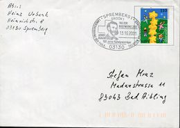 30204 Germany Special Postmark 2001 Spremberg, Henry Dunant  Red Cross  Croix Rouge, Nobel Prize - Henry Dunant