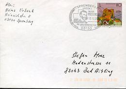 30205 Germany Special Postmark 2001 Spremberg, Henry Dunant  Red Cross  Croix Rouge, Nobel Prize - Henry Dunant