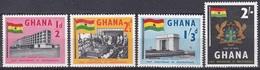 Ghana 1958 Geschichte History Unabhängigkeit Independence Fahnen Flaggen Flags Wappen Bauwerke, Mi. 20-3 ** - Ghana (1957-...)