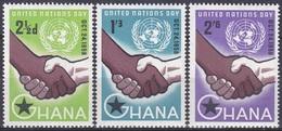 Ghana 1958 Organisationen Vereinte Nationen United Nations UNO ONU Hände, Mi. 36-8 ** - Ghana (1957-...)