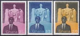 Ghana 1959 Geschichte Persönlichkeiten Präsidenten Abraham Lincoln Kwame Nkrumah Denkmal Denkmäler, Mi. 39-1 ** - Ghana (1957-...)