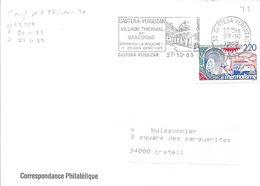 GARD 32 - CASTERA VERDUZAN - CASTERA VERDUZAN CITE THERMALE EN GASCOGNE SOINS DE LA BOUCHE. - TP N° 2559 = FLAMME - 1989 - Maschinenstempel (Werbestempel)