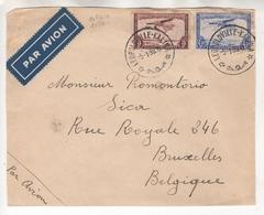 Congo Belge. Devant De Lettre Par Avion. PA10 Et PA11 - Poste Aérienne: Lettres