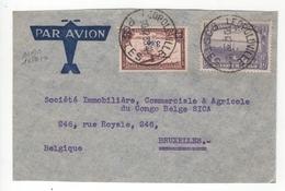 Congo Belge. Devant De Lettre Par Avion. COB. PA10 Et N°180 - Poste Aérienne: Lettres