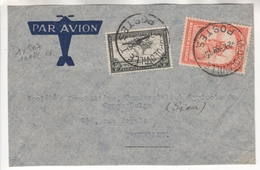 Congo Belge. Devant De Lettre Par Avion. COB. PA7 Et N°182 (RR ??) - Poste Aérienne: Lettres