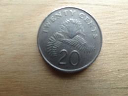 Singapour  20  Cents  1990  Km  52 - Singapour