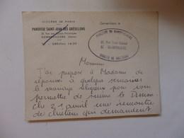 Carte Du Diocèse De Paris. Paroisse Saint-Jean-Des-Grésillons 25, Rue Des écoles Prolongée à Gennevilliers (92). - Religion & Esotérisme