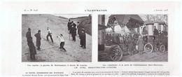 1910 Le Duel  à NEUILLY  Escrime Breittmayer Lussciez  Etablissement Cheri-Halbronn - Vieux Papiers