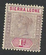 Sierra Leone, 1 P. 1896, Sc # 35, Mi # 25, MH. - Sierra Leone (...-1960)