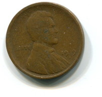 1919-S USA 1c Wheat Penny Coin - Federal Issues