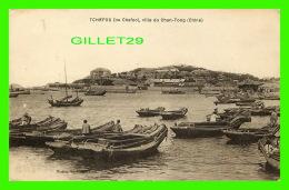 TCHEFOU, CHINE - VILLE DU CHAN-TONG - ANIMÉE DE BATEAUX - MISSION DES FRANCISCAINS - ÉCRITE EN 1925 - - Chine