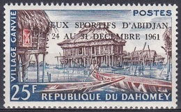 Dahomey Benin 1961 Bauwerke Gebäude Pfahlbauten Buildings Stilt Houses Sport Spiele Abidjan, Mi. 190 ** - Benin – Dahomey (1960-...)
