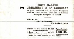 BUVARD  JOHANNOT ET CIE ANNONAY - Buvards, Protège-cahiers Illustrés