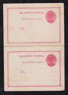 Brazil Brasil 1880 BP 6 20R Armas Stationery Card Pergunta Resposta Mint - Interi Postali