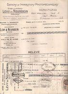 75 PARIS 44 Rue Letellier éditions Et Impressions Photomécaniques LEVY NEURDEIN  Facture, Relevé Et Fiscal 1932 - Imprimerie & Papeterie
