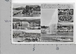 CARTOLINA VG SVIZZERA - GENEVE - Multivue - Vedutine - 9 X 14 - ANN. 1957 - GE Geneva