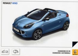 Renault Wind  -  Manufacturer's Advertising Card  -  Carte Postale - Turismo