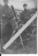 1914 Soldats Français Et Mitrailleuse Puteaux En Position Antiaérienne Dans La Tranchée 1 Photo Ww1 1wk 1914-1918 - Krieg, Militär