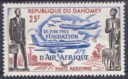 Dahomey Benin 1962 Transport Verkehr Traffic Luftfahrt Flugzeuge Aeroplanes Planes AIR AFRIQUE, Mi. 191 ** - Benin – Dahomey (1960-...)