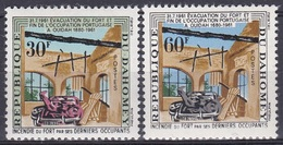 Dahomey Benin 1962 Geschichte History Bauwerke Buildings Militär Festungen Fortresses Fort Ouidah, Mi. 193-4 ** - Benin – Dahomey (1960-...)