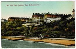 Old Postcard, Leas Cliff, Looking East Folkestone (pk41676) - Folkestone