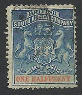 Rhodesia, British South Africa Company, 1/2 P, 1891, Sc # 1, Mi # 16, Used. - Great Britain (former Colonies & Protectorates)