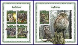 TOGO 2017 MNH** Owls Eulen Hiboux M/S+S/S - OFFICIAL ISSUE - DH1801 - Eulenvögel