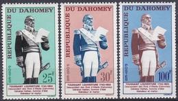 Dahomey Benin 1963 Geschichte Persönlichkeiten General Generäle Toussaint-Louverture Herrscher Allada, Mi. 226-8 ** - Benin - Dahomey (1960-...)