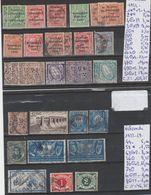 TIMBRES LOT OBLITEREES  DE L IRLANDE  Nr VOIR SUR PAPIER AVEC TIMBRES COTE      152.50€ - 1922-37 État Libre D'Irlande