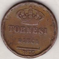 Due Sicilie . 10 Tornesi 1833 . Ferdinando II - Monnaies Régionales