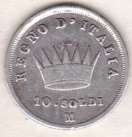 Napoleone / Napoléon I . 10 Soldi 1814 M Milano, En Argent - Temporary Coins