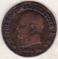 Napoleone / Napoléon I . 1 Centesimo 1808 N . Fautée – Erreur - Napoleonic