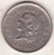 Colombia . 5 Centavos 1886. Copper-nickel . KM# 183 - Colombia