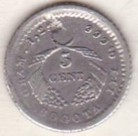 Colombia . 5 Centavos 1883 Bogota. Argent. KM# 174a - Colombie